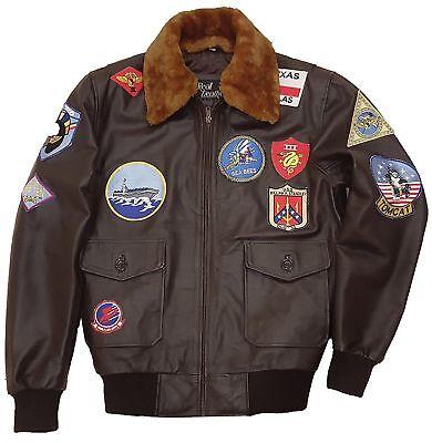 Jet Bombers - Tom Cruise Pete Maverick Top Gun Flight Bomber Jacket Jet Pilot Leather Jacket