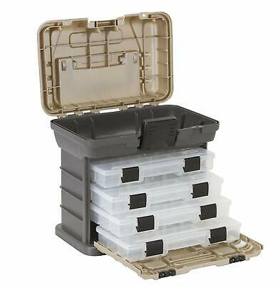 Plano Stow N Go 1354 4-By Rack System Fishing Tackle Box Large Storage Tool -