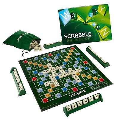 Mattel Scrabble Original Board Game, Multi Color Brain Word Game Fun Gaming