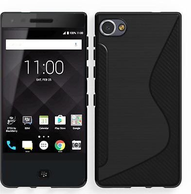 For BlackBerry Motion Case Black Soft S-Line Gel TPU Silicone Cover (Blackberry Silicone Skin Case)