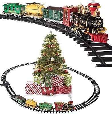 Christmas Train Set - Around The Xmas Tree with Real Smoke, Music & Lights