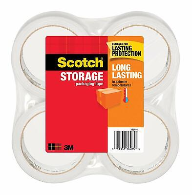 Scotch Long Lasting Storage Packaging Tape 1.88 Inches X 54.6 Yards 4 Rolls