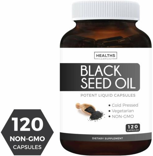 Black Seed Oil - 120 Softgel Capsules Non-GMO & Vegetarian Premium Cold-Pressed