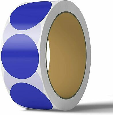 2 Inch Dot Matte Blue Color Code Labels Round 500 Stickers Per Roll