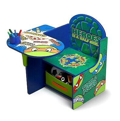 TMNT Children Desk Chair With Storage Bin 3 - 6 Yrs Nickelodeon Ninja Turtles ](Ninja Turtle Chair)