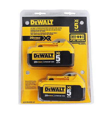 DEWALT DCB205-2 20V MAX XR 5.0Ah Lithium Ion Battery, Pack of 2