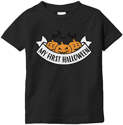 My First Halloween Baby T Shirt (My First Halloween Festive Boo! October Pumpkin Patch Bats Cats  Infant)
