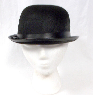 Black Derby Hat Halloween Party Costume Accessory 23.5 inches - Derby Halloween