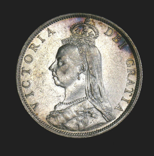 1890 Great Britain Florin KM# 762 AU