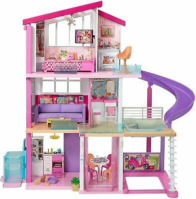Barbie Dreamhouse Dollhouse with Wheelchair Accessible Elevator, Pool, Slide NEW