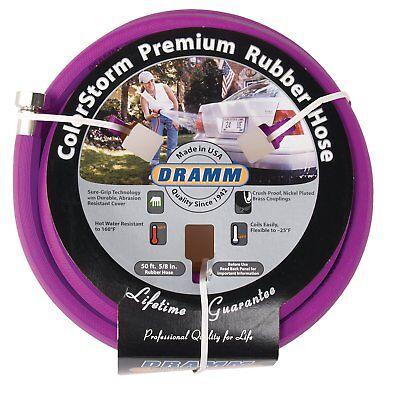 Color Storm Premium Rubber Hose - Dramm 17006 ColorStorm Premium 50-Foot-by-5/8-Inch Rubber Garden Hose, Berry