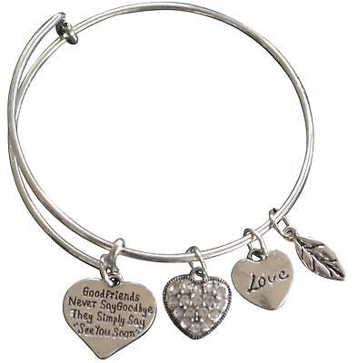 Best Friends Bracelets- Good Friends Never Say Goodbye Bangle Bracelet- Friend