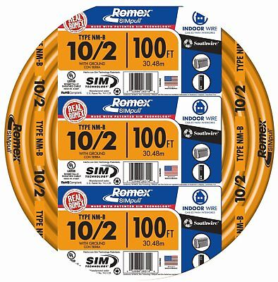 Southwire 28829028 Non-metallic Building Wire 102-nmwg 100