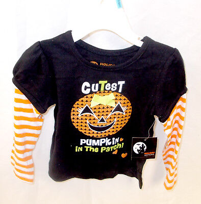 Cutest Baby Halloween Costume (Halloween Black T-shirt Costume Cutest Pumpkin In The Patch Infant Toddler)