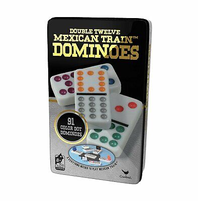 Color Dot Dominoes - Professional Dominoes Game Set Double 12 Color Dot Domino Tiles Mexican Train