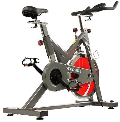 Sunny Health & Fitness Belt Drive Indoor Cycling Exercise Bi