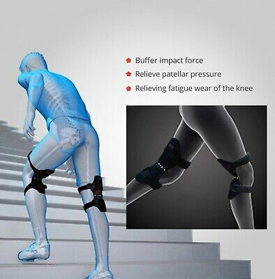 Power Lift Joint Support Knee Brace Pads Rebound Spring Force Running Basket US