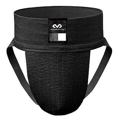 McDavid 2-Pack Athletic Supporter, Black, Small