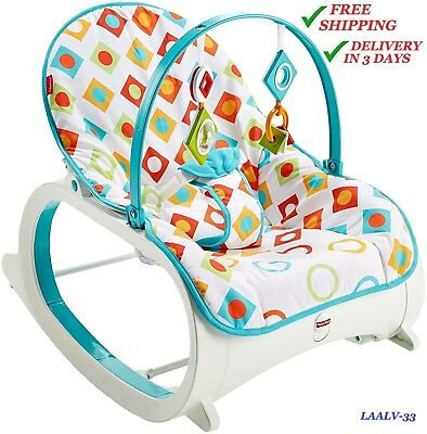 Reclining Rocking chair for babies and toddlers by Fisher-Price, Geo Diamonds :) ()