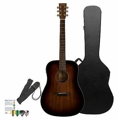 Sigma Guitars Mahogany Acoustic-Electric Folk Guitar (Shadowburst Finish) with C