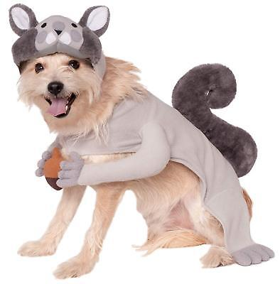 Dog Squirrel Costume New Halloween Size Small Nut in Paws Headpiece  - Squirrel Dog Halloween Costume