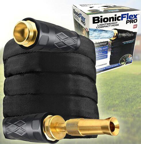 Bionic Flex Pro Reinforced Easy Connect Brass Fittings Garden Hose - 4 Sizes!