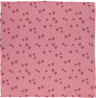 Smafolk Schmusetuch Musslin Tuch Kuscheltuch allover Apfel rosa 70cm x70 cm