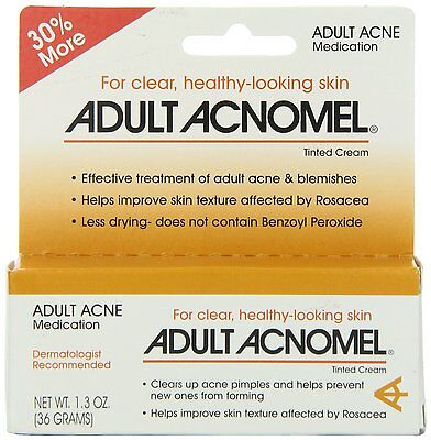 1.3oz Adult Acnomel Acne Medication Tinted Cream for Pimple Prevention