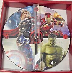 Marvel Avengers Age of Ultron 11 in. Wooden Wall Clock Quartz w/Analog Display