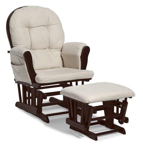 Rocker Glider Rocking Chair Ottoman Baby Nursery Nursing Furniture Easy Feeding
