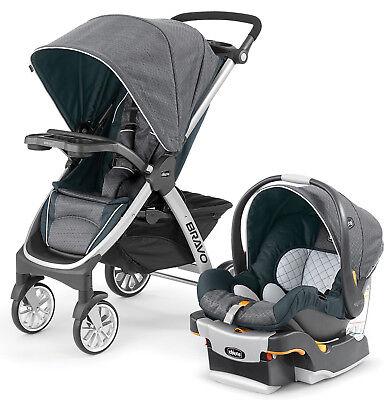 Chicco Bravo Trio 3-in-1 Travel System Stroller w/ Infant Car Seat Nottingham comprar usado  Enviando para Brazil