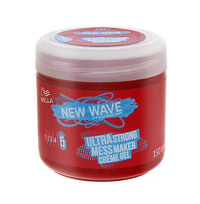 3x Wella New Wave Ultra Strong Mess Maker Creme Haargel Halt Stufe 5 je 150ml