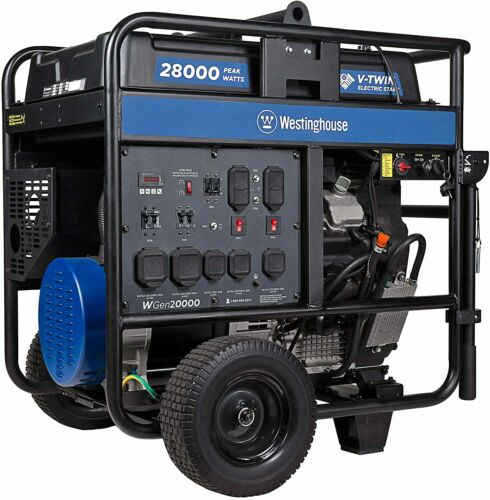 Westinghouse WGen20000 28,000-W Portable Gas Powered Generator w/ Electric Start