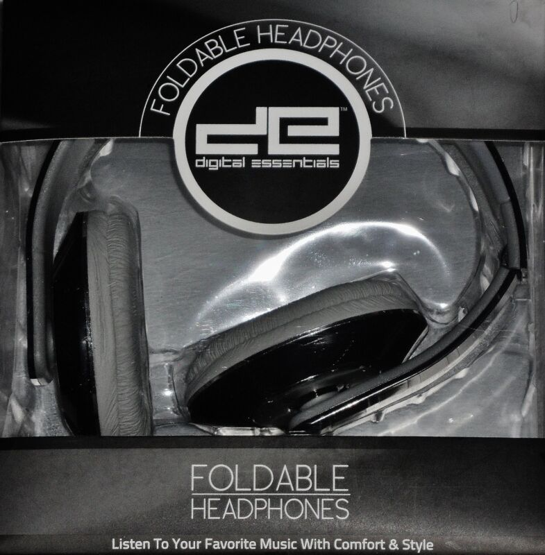 Digital Essentials Foldable Headphones-your choice of colors Black, Purple, Pink