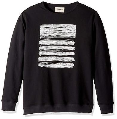 Vestige Men's Apparel Pen and Ink Pullover Cotton Sweatshirt, Black, Large