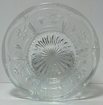 Vintage small Cut glass candy bowl