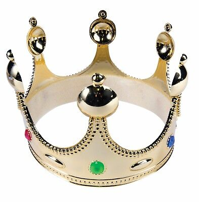 Gold King Prince Crown Child Hat Medieval Renaissance Costume Accessory](Renaissance Crown)