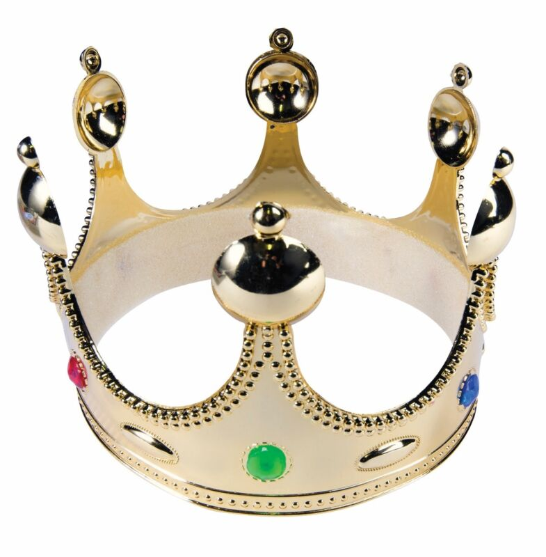 Gold King Prince Crown Child Hat Medieval Renaissance Costume Accessory