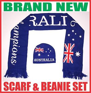 ANZAC-day-AUSTRALIA-flag-supporter-knitted-scarf-beanie-hat-set-gift-souvenir