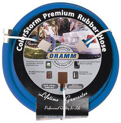 Color Storm Premium Rubber Hose - Dramm 17005 ColorStorm Premium 50-Foot-by-5/8-Inch Rubber Garden Hose, Blue