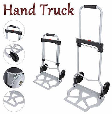 Folding Hand Truck Dolly 100kg220 Lbs Heavy Duty 2-wheel Aluminum Cart Compact