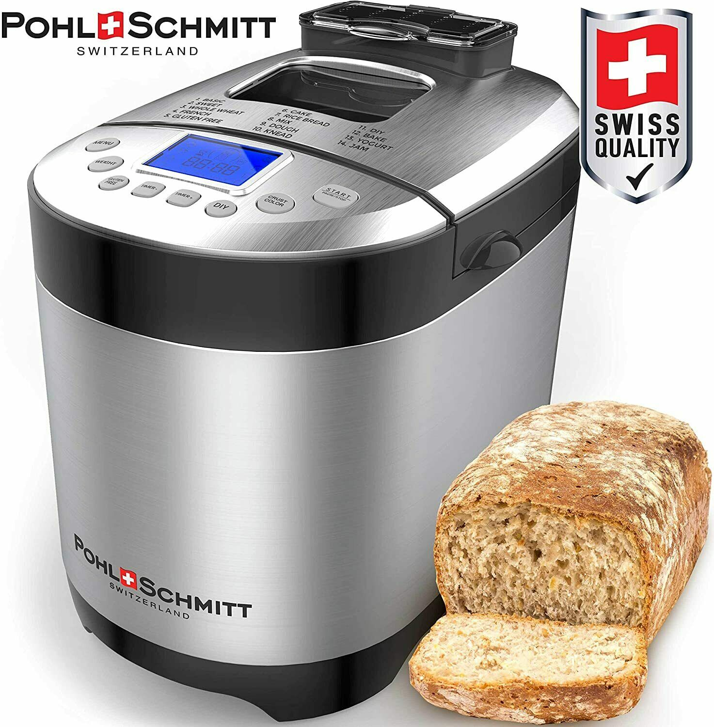 17 in 1 stainless steel automatic bread