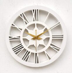 Clock Wall Large Modern Home Decor Quartz Wood Carving for thanksgiving day