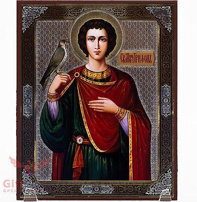 Wooden Icon Saint Tryphon Tryfon Agios Tryfonas                     5 1  X 6 2