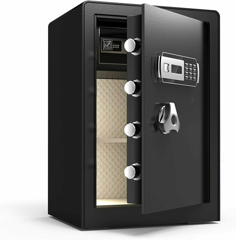 Double Safety Key Lock Digital Safe Box with Induction Light , Separate Lock Box