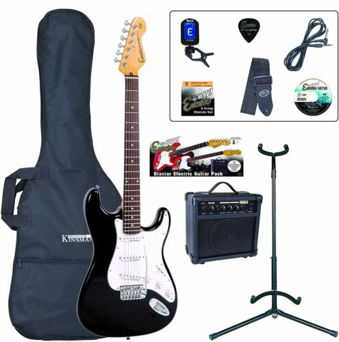 Encore E6 Electric Guitar Outfit Black Lets Learn To Play Guitar At Home Now