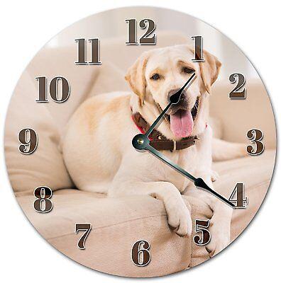 "10.5"" LABRADOR DOG - DOG LOVER'S CLOCK - Large 10.5"" Wall Clock - 4053"