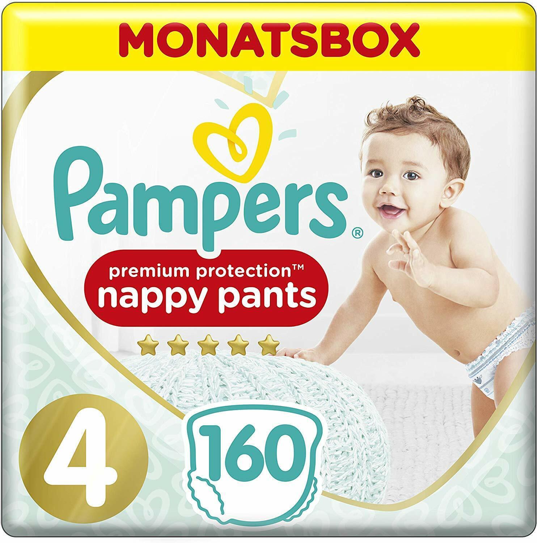 Pampers Premium Protection Pants, Gr. 4, 9-15 kg, Monatsbox, 1er Pack (1x 160 St