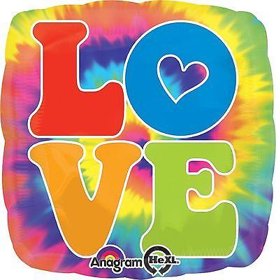 FEELING GROOVY FOIL BALLOON PARTY DECORATION LOVE TYE DYE HIPPIE 60'S 70'S 43CM](Tye Dye Balloons)