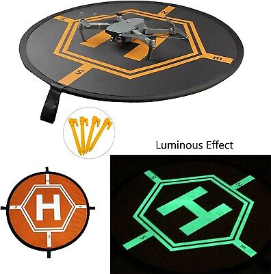 innogiz Lighted up Effect Drone Landing Pad Portable Fast-Fold, RC Quadcopter Heli
